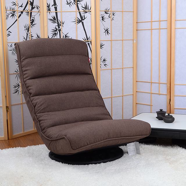 Floor recliner chair 360degree swivel folded japanese living room furniture modern reclining sofa chaise lounge video