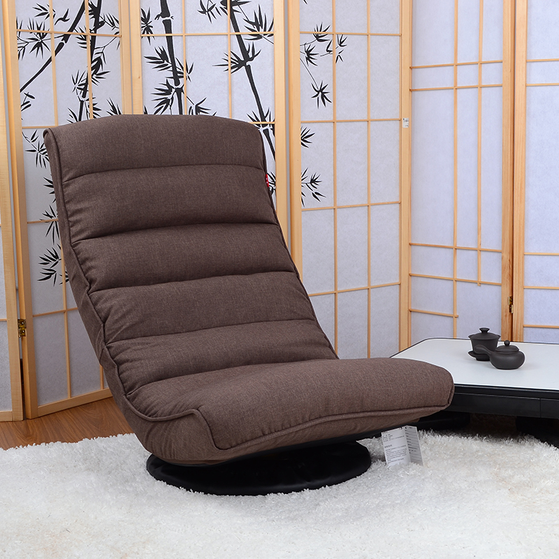 floor recliner chair 360degree swivel folded japanese living room furniture modern reclining sofa chaise lounge video game chair - Swivel Recliner Chairs For Living Room