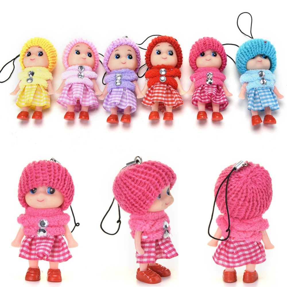 1pcs Cute Mini Dolls Pendant Gift For Mobile Phone Straps Bags Part Accessories Decoration Cute Cartoon Movie Plush Toy Fancy Colours Luggage & Bags