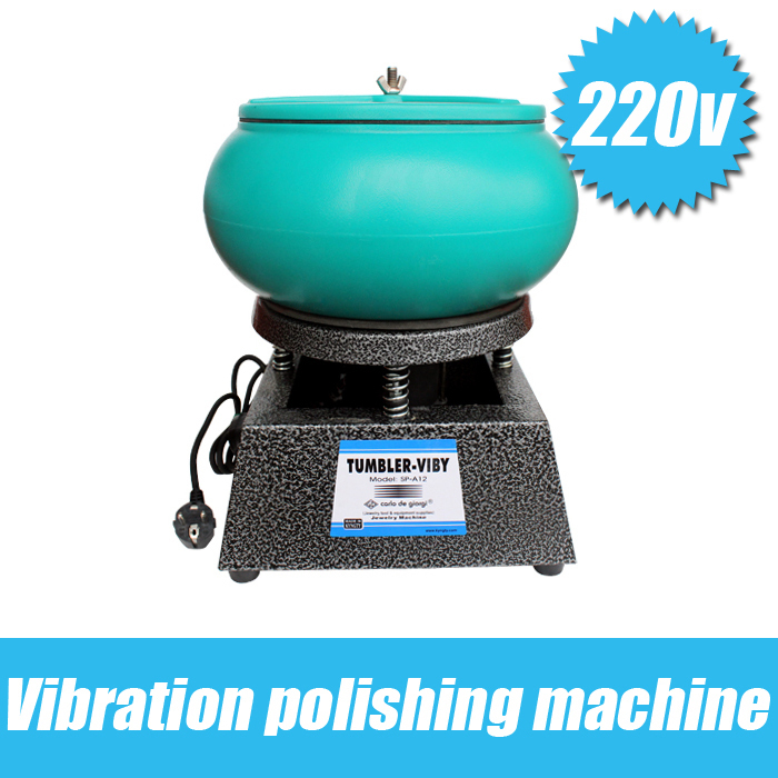 Free Shipping Hot Sale Medium Capacity 6.2kg Capacity Vibratory Polishing Machine Vibrating Rock Tumbler Vibratory Tumbler