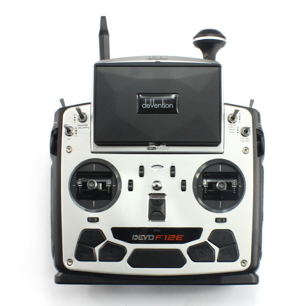 F09070 Walkera Devo F12E DEVOF12E Transmitter FPV Radio 32 channel 5.8GHz Remote Control with 5 LCD Display for H500 X350 f09070 walkera devo f12e transmitter fpv radio 32 channel 5 8ghz with 5 lcd display for h500 x350 pro x800 rc drone quadcopter