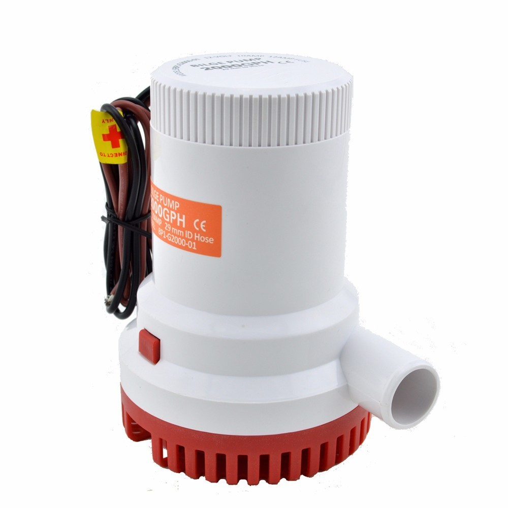 Bilge Pump DC 12V 24V 2000GPH Submersible Marine Boat Electric Bilge Water Pump Free Shipping Aquario