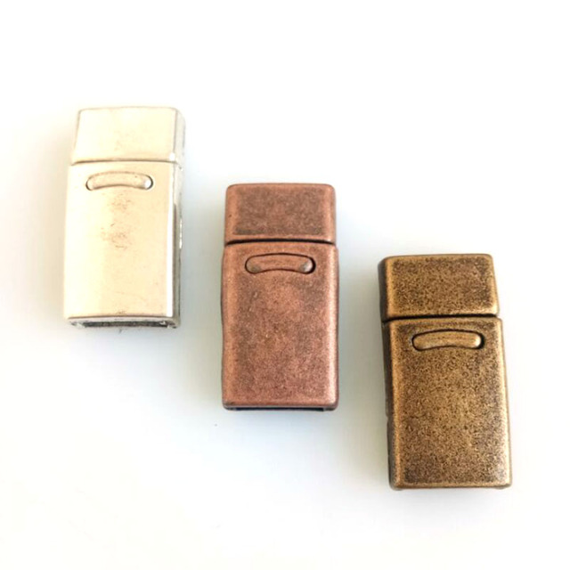 10pcs Fashion Jewelry Antique Silver /Bronze/Copper Strong Magnetic Clasps For 10*2mm or double 5*2mm Flat Leather Cord