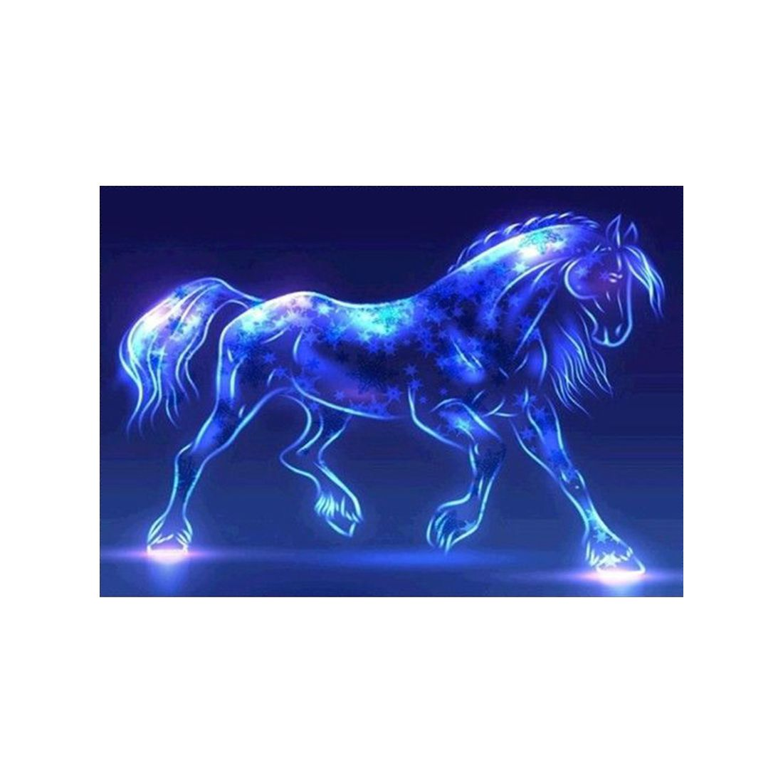DIY 5D Diamond Embroidery Horse Painting Cross Stitch Art Craft Decoration