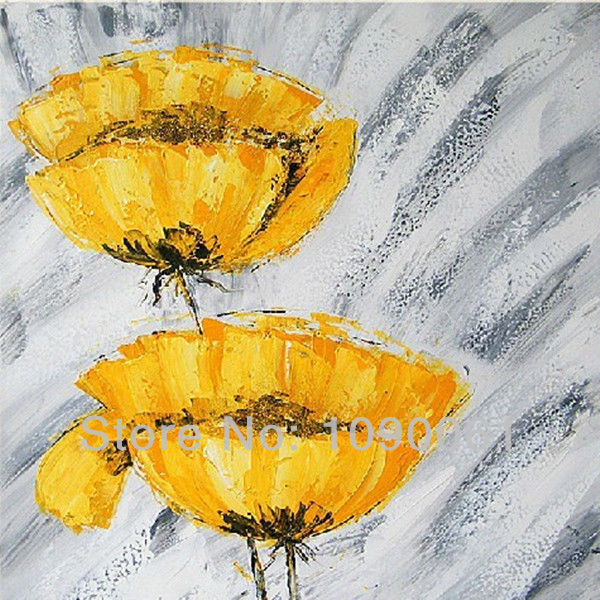 Modern abstract hand yellow poppy flower drawing canvas art wall modern abstract hand yellow poppy flower drawing canvas art wall picture home decor oil painting with mightylinksfo