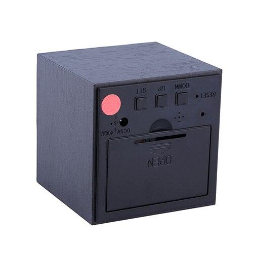 f67e08d8573 Controle de voz Relógio Cubo De Madeira USB Bateria Digital LED Desk ...