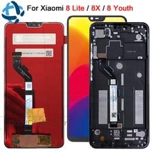 Новый 6,26 «ЖК для xiaomi mi 8 lite mi 8 Молодежный ЖК-дисплей и сенсорный экран mi 8x mi 8x дигитайзер сборка Замена xiaomi 8 lite