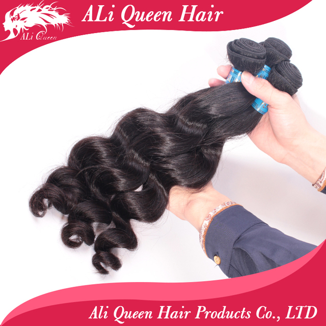 Ali Queen Hair Unprocessed 6A Peruvian Loose Wave Virgin Hair, Grade 6a peruvian loose wave hair weaving 3pcs lot