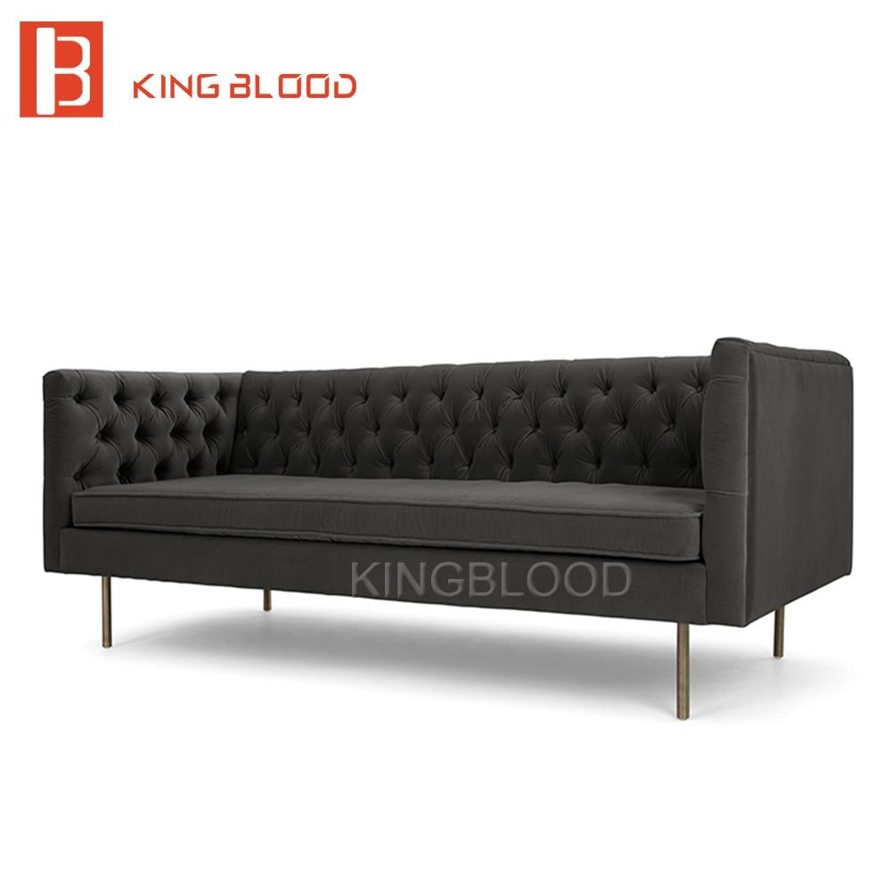 Sofa Ruang Tamu Berumbai Rumbai Tombol Tradisional Tempat Duduk