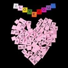 100Pcs Wooden Colourful Scrabble Tiles Mix Letters Varnished Alphabet Scrabbles scrabble trainer