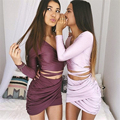 Bandage Elastic Women Pleated Skirt Slim Sexy Mini Pencil Skirts Clubwear Suitable Casual Solid Color Clothing