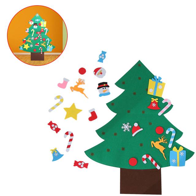 useful kids diy felt christmas tree with ornaments children christmas gifts for 2018 new year door