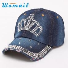 Womail 2017 Алмазные Женщины Snapback Бейсболки моды Хип-Хоп gorras planas Повседневная Корона шляпы Подарок 1 шт.