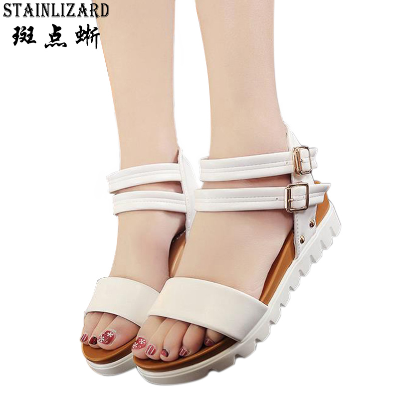 2017 Platform Summer Beach Women Shoes Sandals Bohemia Wedge Gladiator Casual Sexy Fashion Girls Sandals BT567 choudory bohemia women genuine leather summer sandals casual platform wedge shoes woman fringed gladiator sandal creepers wedges