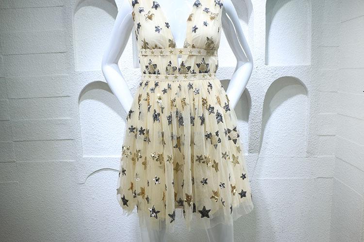 HTB13XyRPFXXXXa1XpXXq6xXFXXXW - Summer Dress  Star Beads Jacobs Deep V JKP064