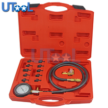 UTOOL Full System Automotive Engine Oil Pressure Test Kit Tester Car Garage Tool 0-140PSI Low Oil Warning Devices