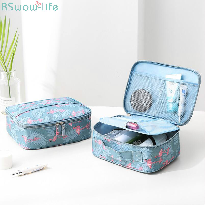 Korean Style Travel Cosmetic Supplies Portable Receipt Bag Portable Travel Lady Wash Bags Suitcase Organizer Hand Held Storage-in Storage Bags from Home & Garden