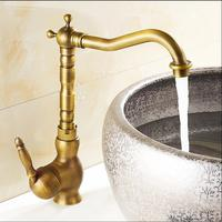 Fashion Hot Cold Basin Faucet Europe Style Total Brass Bronze Finished Kitchen Faucet Swivel Kitchen Mixer