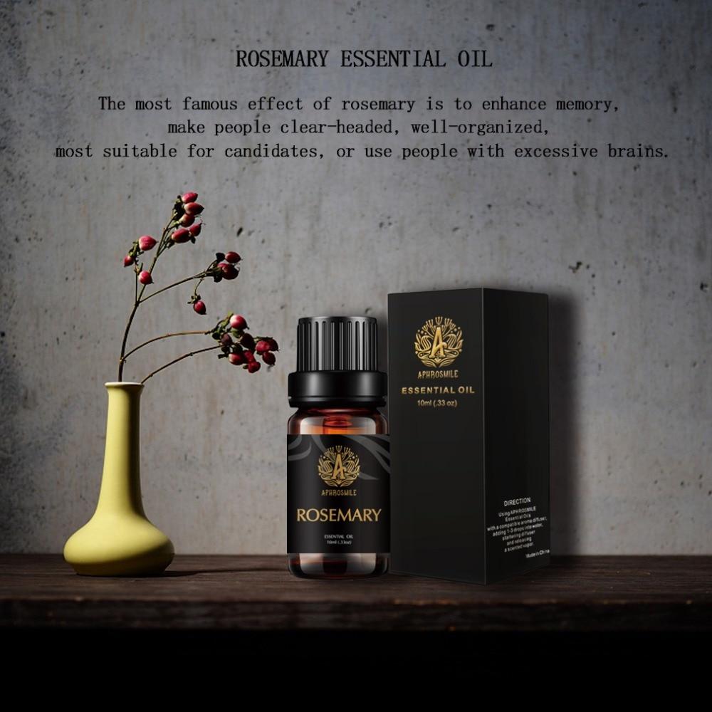 Essential Oils 100% Pure Natural Essential Oil Diffuser Burner Diffusor 10ml Skin Care Massage ROSEMARY