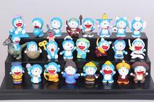 2016 NEW hot 3CM Doraemon Toys 24 Pcs/Set Best action figure toys Cool Christmas gift doll
