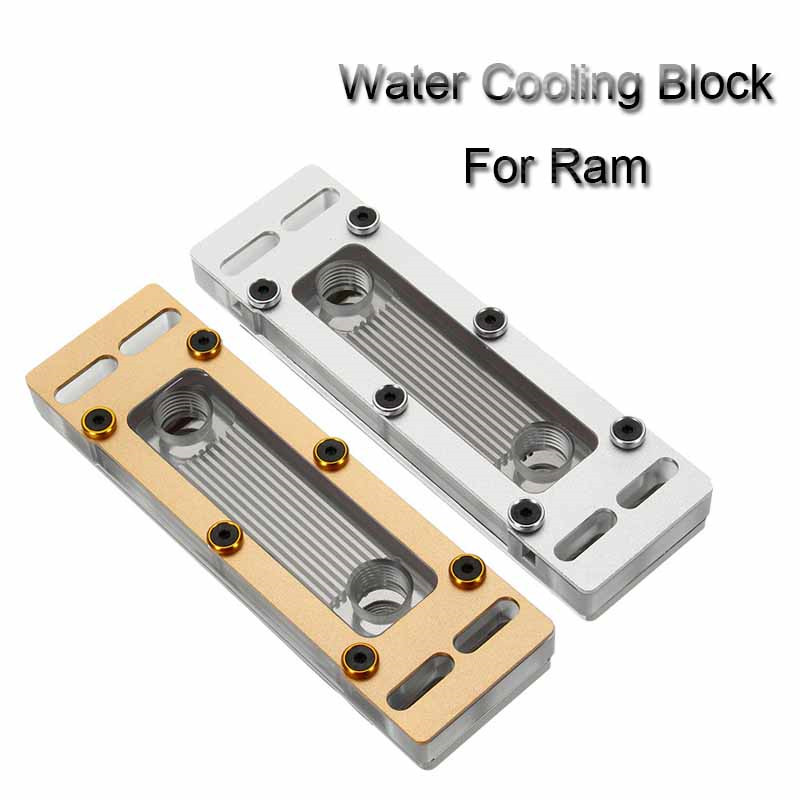 New RAM Water Cooler Cooling Block Computer Liquid Water-cooled Heat Sink Four Channels Copper + PC Waterblock Radiator Heatsink medium computer cpu plastic cooling fan leaves card blower heat sink