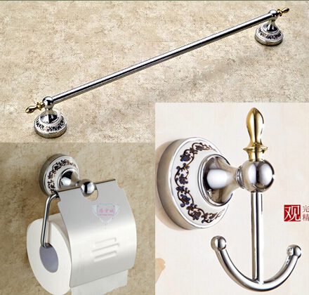 ФОТО Free shipping Bathroom Accessories Set,Towel Bar ,paper hold, cloth hook bathroom sets