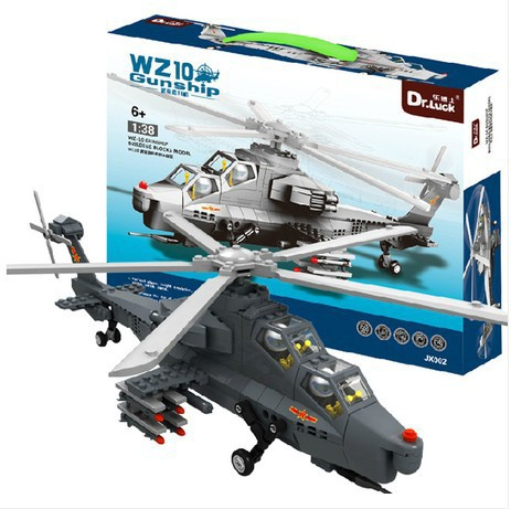 Model building kits compatible with lego city Armed helicopter gunship 728 3D blocks Educational toys hobbies for children city series helicopter surveillance building blocks policeman models toys children boy gifts compatible with legoeinglys 26017