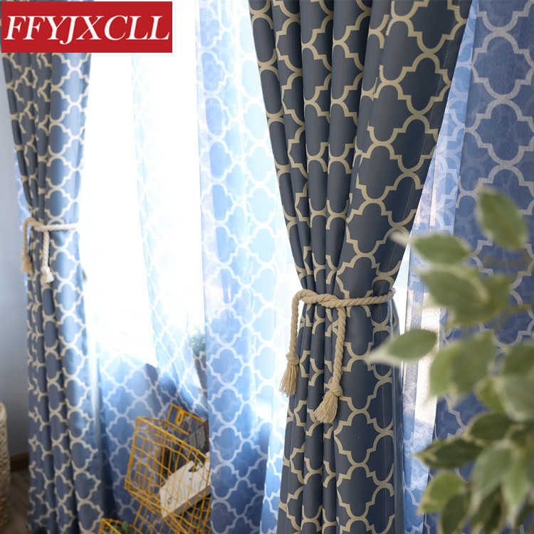 Modern Blackout Curtains For Living Room Bedroom Sheer Curtain