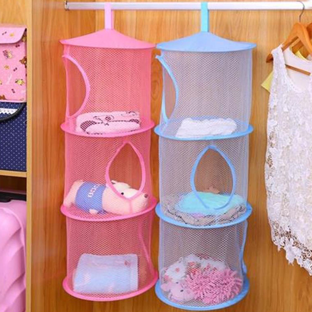 Ordinaire 3 Net Mesh Shelf Hanging Clothes Child Toys Organizer Bag Storage Bedroom  Wall Door Closet Organizers