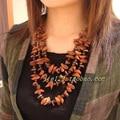 Tibet Nepal ethnic jewelry wholesale wood necklace C-045