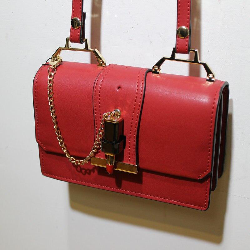 ФОТО Novelty female spring summer small solid color flap crossbody bag korean style lipstick buckle single shoulder messenger bag