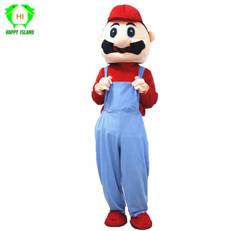Super Mario Mascot Costumes Super Mary Adult Mascot Costumes Cartoon Dolls Halloween Cosplay Costume Men Cosplay Costume