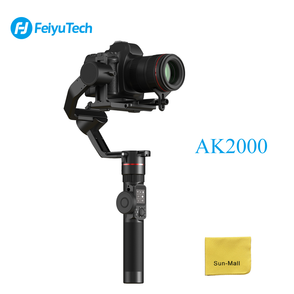 все цены на FeiyuTech AK2000 3-Axis Camera Stabilizer Gimbal for Sony Canon 5D Panasonic GH5 Nikon Camera Maximum 2.8 kg Payload онлайн