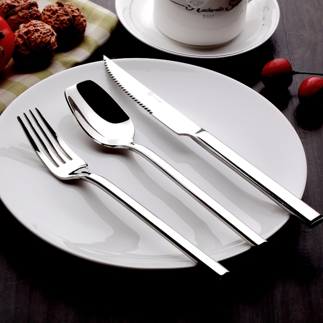 Beix Stainless Steel Western Restaurant Catering Utensils Sets Steak Knife Fork Soup Dessert Scoop Tableware Tool & Beix Stainless Steel Western Restaurant Catering Utensils Sets Steak ...
