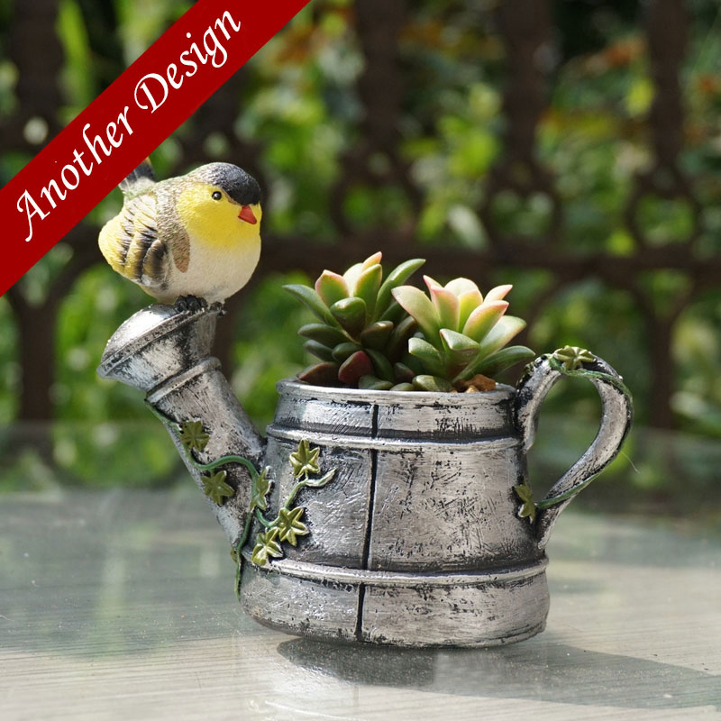 Resin Bird Teapot Flowerpot Home Decoration Pot De Fleur Vasi Plant Pot  Cute Animal Horse Garden Decor Planters Pots Maceta In Yard U0026 Garden Decor  From Home ...