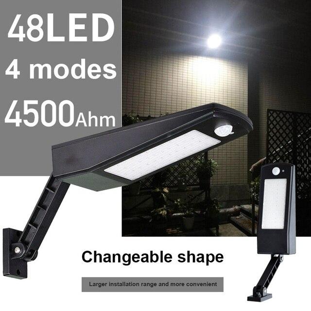 Réglable Pir Lumière Récent Applique Mouvement Leds Capteur Plus De Étanche Lampe 48 Solaire zqMpSUV