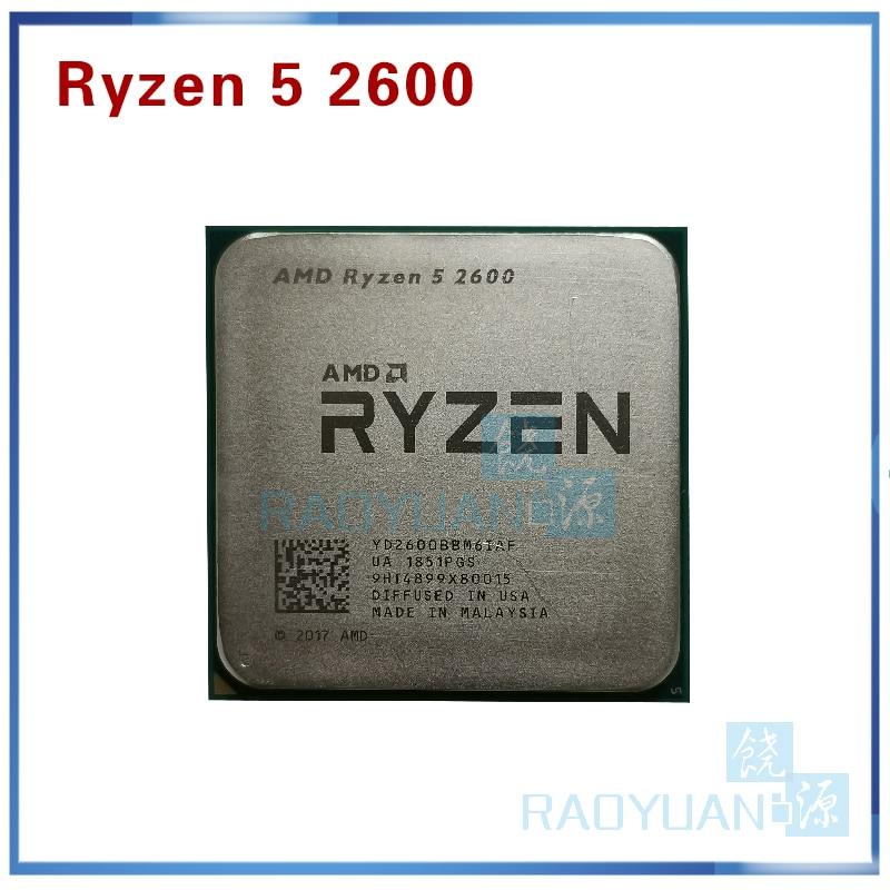 Процессор AMD Ryzen 5 2600 R5 2600 3,4 ГГц, шестиядерный, двенадцатиядерный, 65 Вт, YD2600BBM6IAF, разъем AM4, без вентилятора