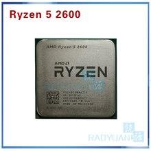 Amd ryzen 5 2600 r5 2600 3.4 ghz 6 코어 12 코어 65 w cpu 프로세서 yd2600bbm6iaf 소켓 am4
