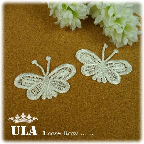 Wholesale applique butterfly design DIY Decoration Lace Fabric Paste Decoraive Cloth Paste pink Lace Applique 150pcs/lot