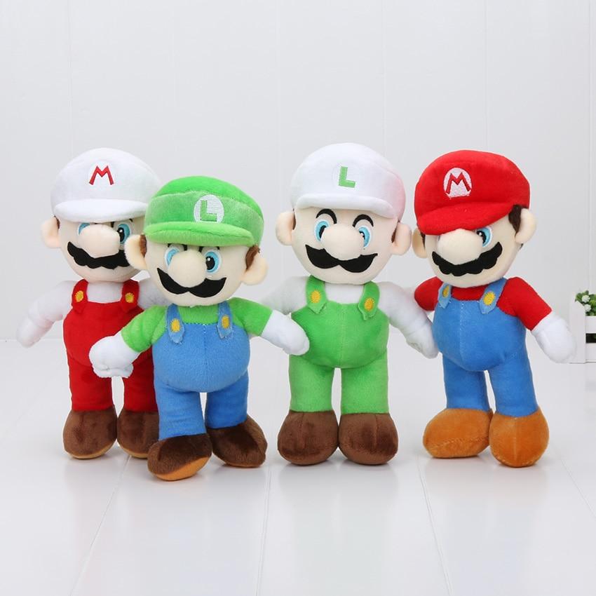 25cm Classic Game Characters Super Mario Bros Plush Luigi Yoshi