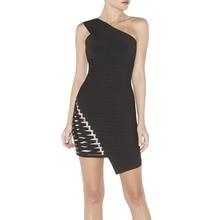 HLBCBG Schulter Verbandkleid, Figurbetontes Kleid Cocktail Party Kleid 2206 # XS S M L