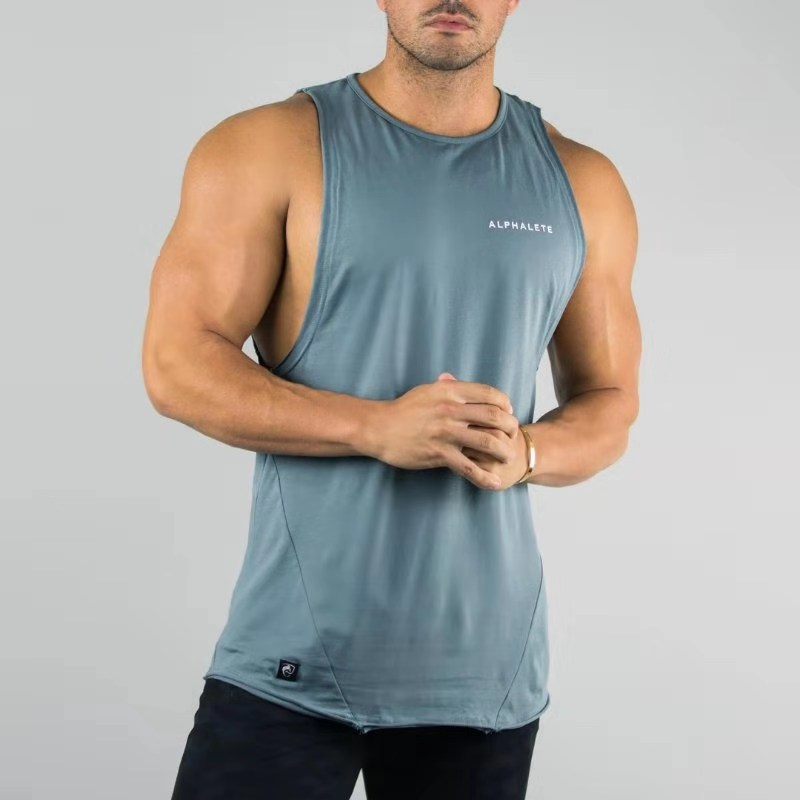 2019 New ALPHALETE Bodybuilding Stringer Tank Tops Men Fitness Clothing Gyms Shirt Muscle Vest Workout Cotton Regatas Masculino