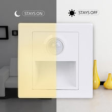 Recessed In Motion Sensor Stair Wall Lamp 15W 110V 220V Indoor Home Bathroom Kitchen PIR Infrared Induction Night Lighting Lamp