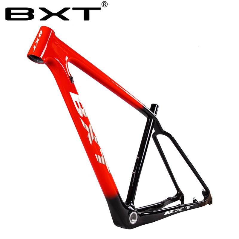 BXT mtb mountain bike quadro de carbono 29er UD BSA bicicletas usado para corridas quadro de bicicleta super leve 29 quadros de bicicleta partes