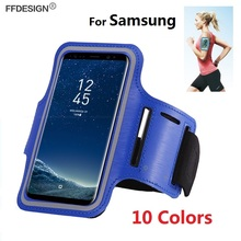Arm band Universal Phone Bag Case On Hand for Samsung Galaxy S9 S8 Plus S7 S6 Edge S5 S4 Note 9 8 7 5 4 Sports Phone Case Bag sports arm band case w led flickering light for samsung galaxy s5 deep pink black 2 x cr2032