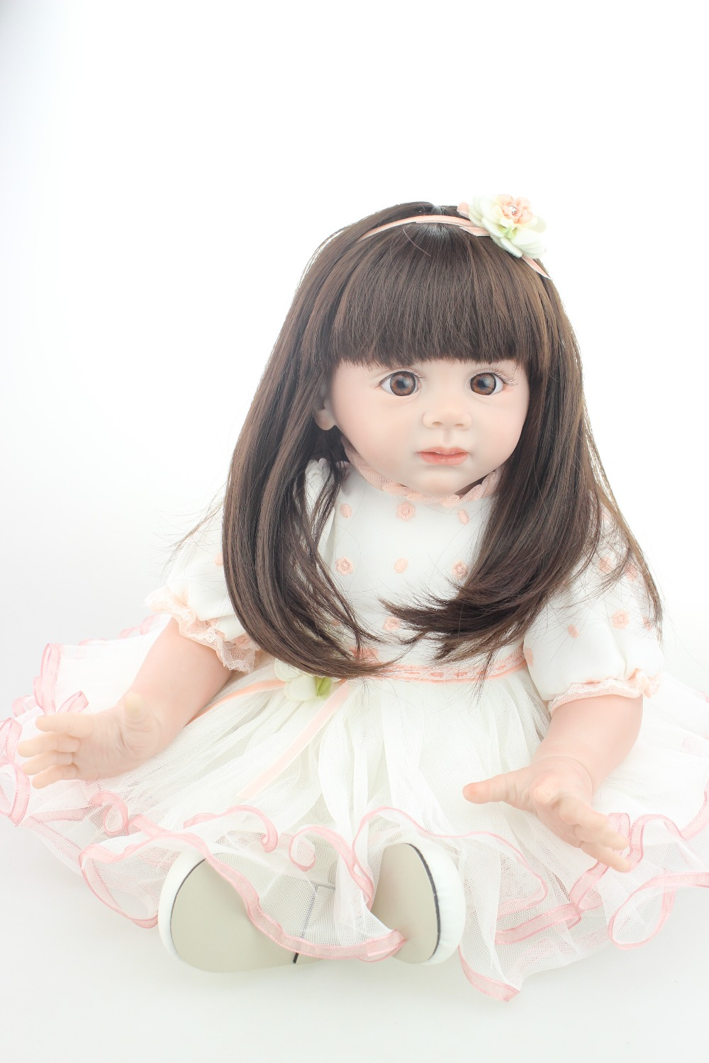 2015 NEW hot sale lifelike reborn todder girl doll wholesale baby dolls fashion doll Christmas gift