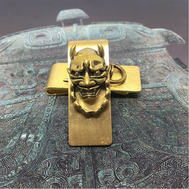 Metal Money Clip Brass ID Credit Card Cash Holder Gothic Wallet Gift Clamp Holder Men Pocket Dollar Price Clip ...