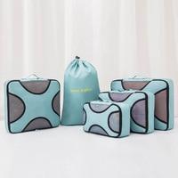 5pcs/set Travel Storage Bags Clothes Underwear Zipper Shoes Woman Clothing Cosmetics Organizer Pouch Suitcase Home Wardrobe Item