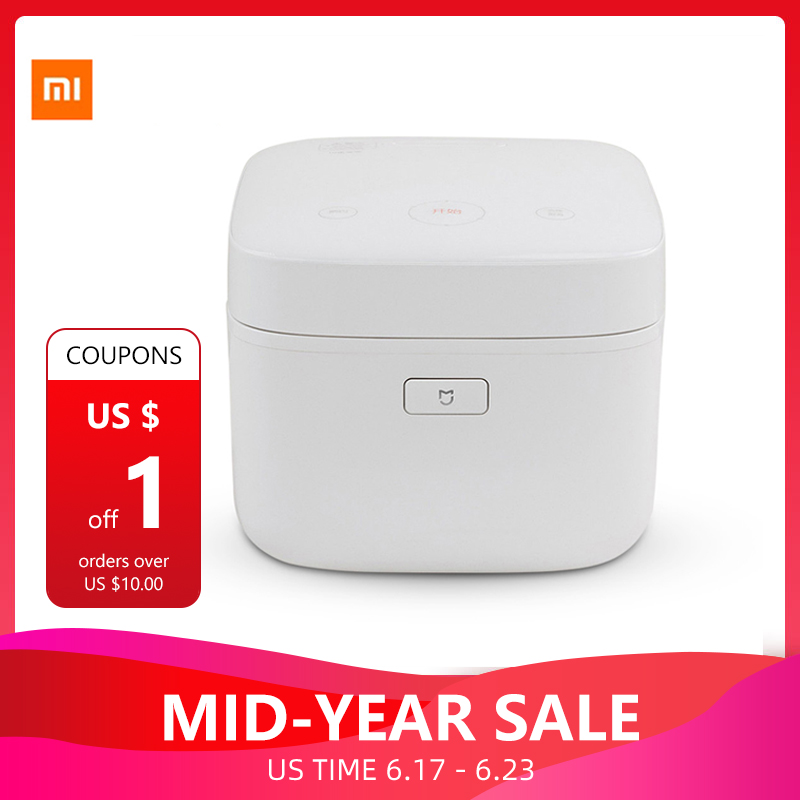 Xiaomi Mijia IH Smart Electric Rice Cooker 3L Alloy Cast Iron Heating Pressure Cooker Multicooker Kitchen Home APP WiFi