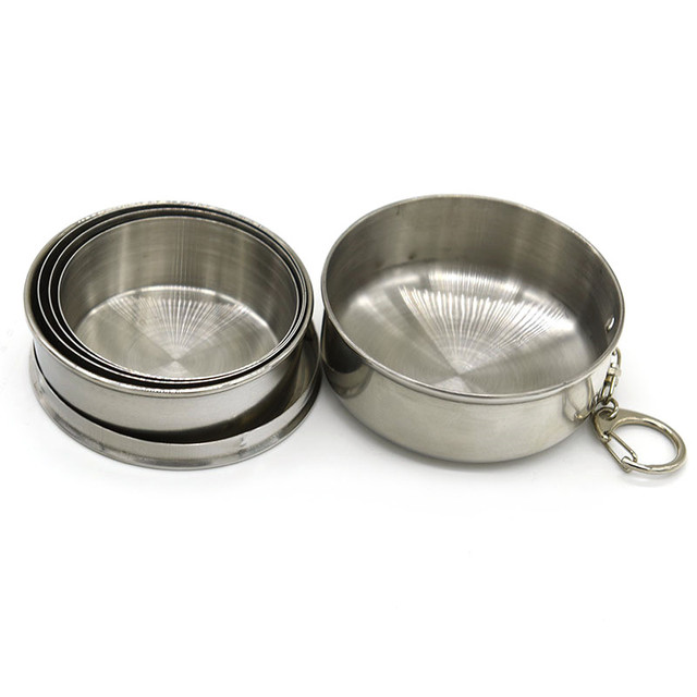 Planet Friendly Portable Stainless Steel Collapsible Cups